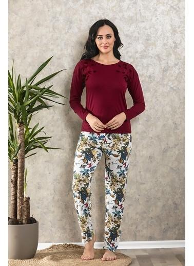 Lingabooms Pijama Takım Bordo